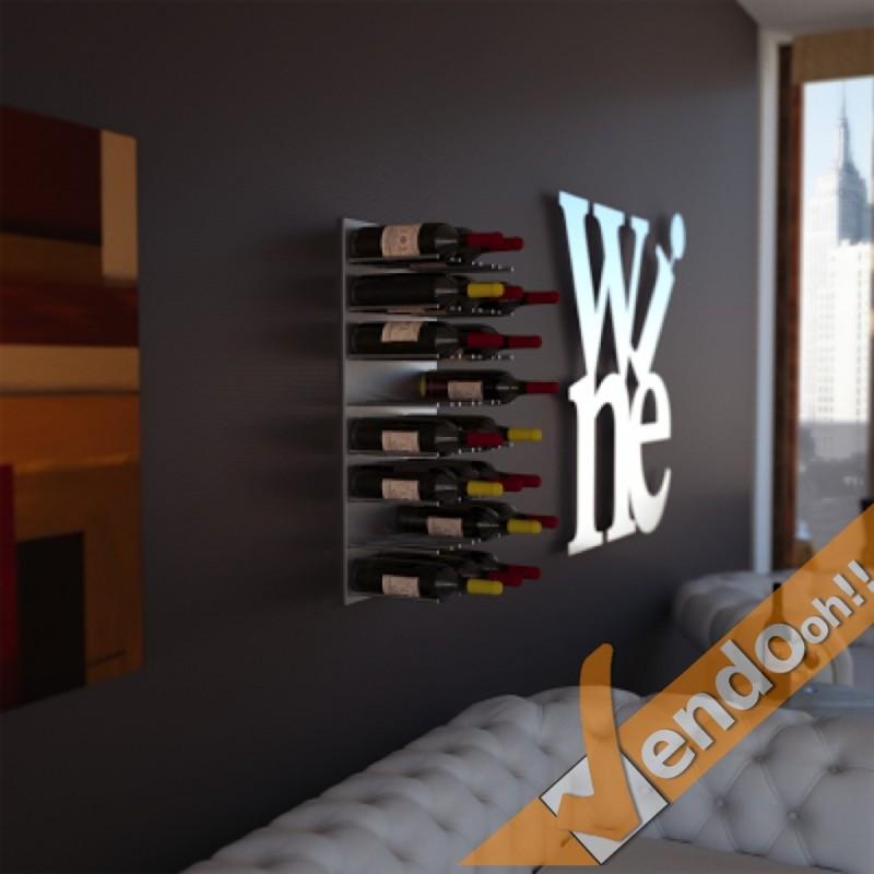 Espositore portabottiglie porta bottiglie vino wine parete for Porta bottiglie vino