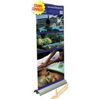 BANNER ROLL UP ROLL-UP ESPOSITORE PUBBLICITARIO DA PAVIMENTO VERTICALE 85X230