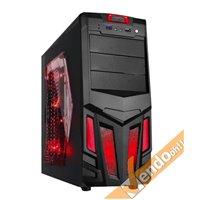 CASE COMPUTER PC GAMING ATX IN METALLO CON MANIGLIA USB 3 VENTOLA LUMINOSA ARES