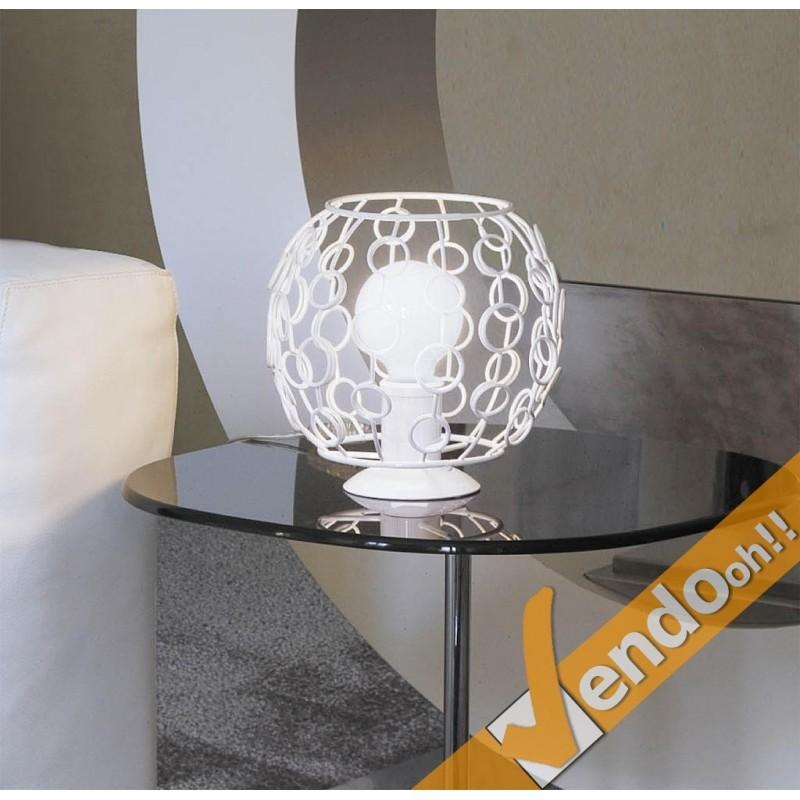 Lampada lampadario bubble da tavolo con base lampadina e27 for Lampadario da tavolo