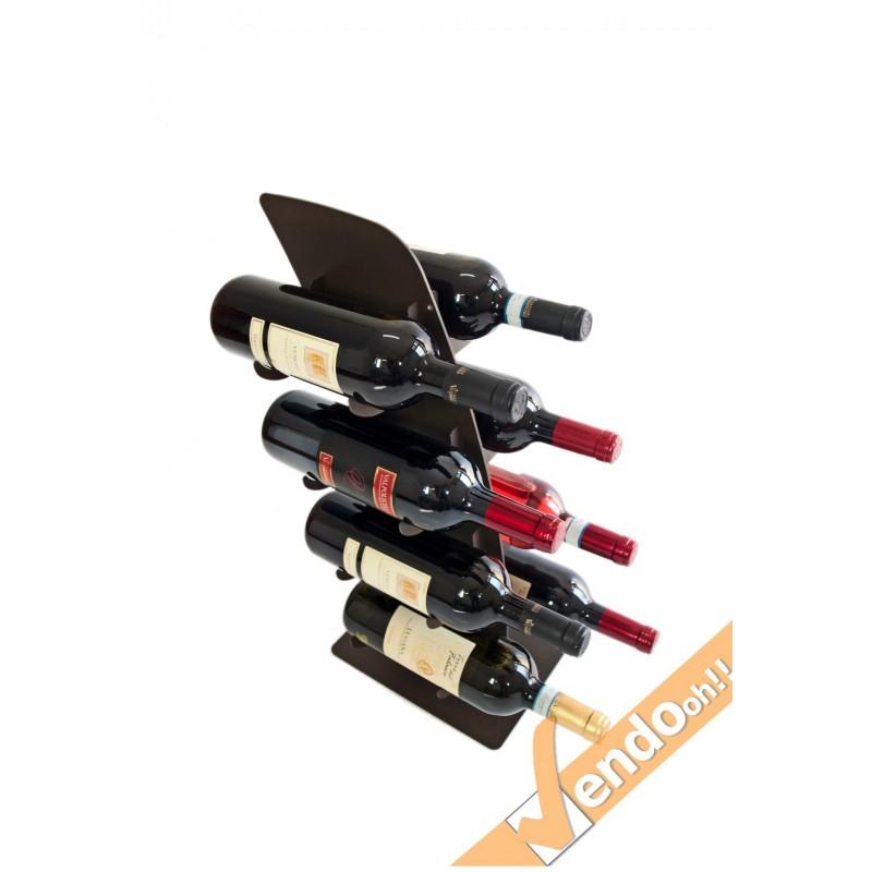 Espositore portabottiglie porta bottiglie vino wine banco for Porta bottiglie vino