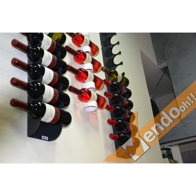 Espositori bottiglie vino cinque sedi da terra - Porta vini da parete ...