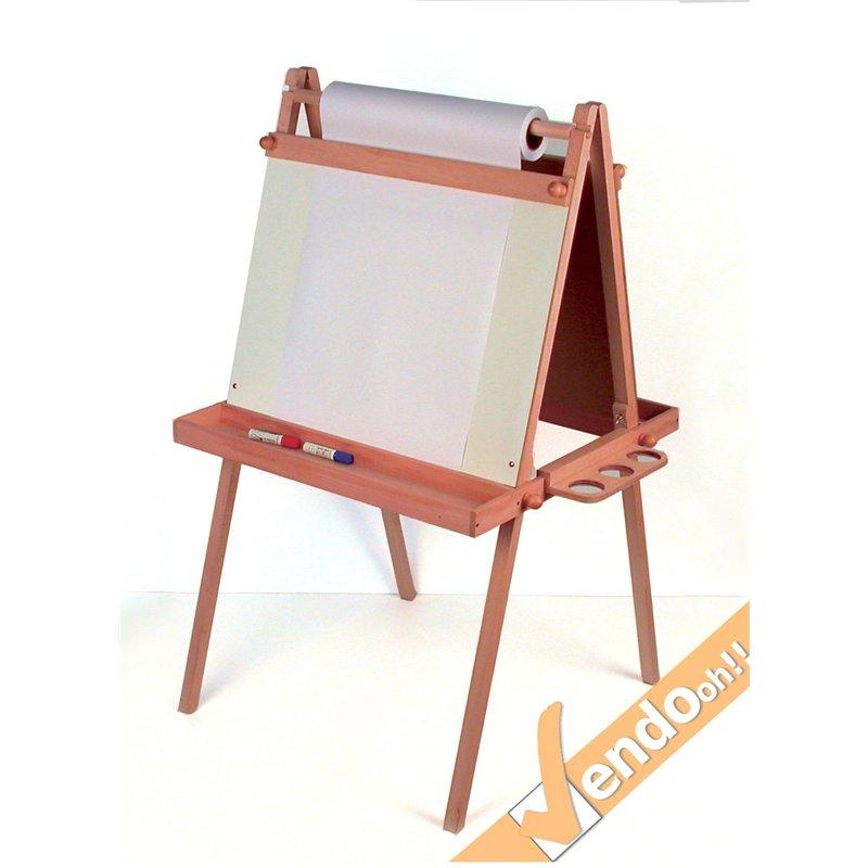 Cavalletto espositore lavagna per dipingere disegnare per bambini in legno iwl 1 e - Cavalletto da pittore da tavolo ...