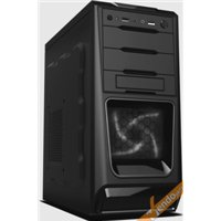 CASE CABINET MIDDLE TOWER IN LAMIERA PER PC COMPUTER 2 USB CON ALIMENTATORE 500W
