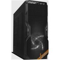 CASE CABINET MIDDLE TOWER SENZA VITI PER PC COMPUTER 4 USB CON ALIMENTATORE 500W