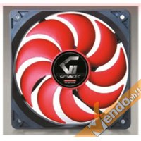 VENTOLA RAFFREDDAMENTO COMPUTER COLORATA ROSSA PC FAN 12X12 CM 3+4 PIN 12 VOLT