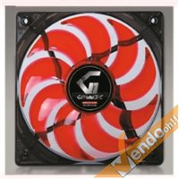 VENTOLA RAFFREDDAMENTO COMPUTER COLORATA CON LUCE ROSSA PC FAN 12X12 CM 3+4 PIN