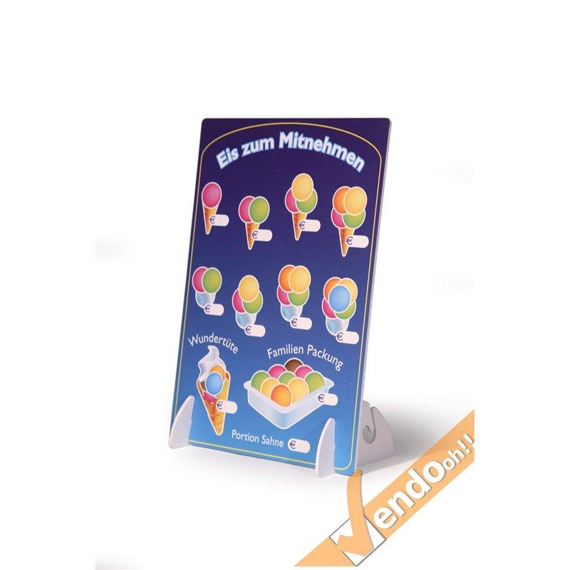 Listino da banco scrivibile gelateria gelaterie espositore - Porta poster amazon ...