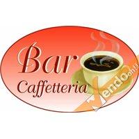 ADESIVO OVALE CAFFE PER BANCO VETRINE GELATERIA GELATERIE CAFFETTERIA BAR