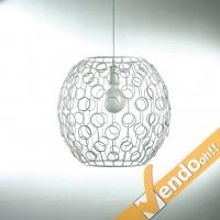 LAMPADA LAMPADARIO BUBBLE DA SOSPENSIONE LAMPADINA E27 VARI DIAMETRI VARI COLORI