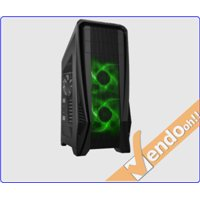 CASE ATX COMPUTER CABINET PC TOWER LUCE VERDE CARD READER USB 3.0 2.0 AUDIO
