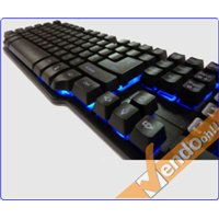TASTIERA TASTI ESPOSTI USB GAMING ILLUMINATA MECHANICAL-LIKE MULTIMEDIALE ITA