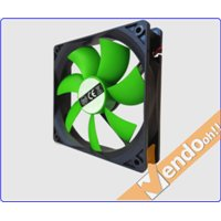 VENTOLA RAFFREDDAMENTO COMPUTER CASE PC FAN 12 CM 4 + 3 PIN 12 V COLORATA VERDE