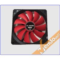VENTOLA RAFFREDDAMENTO COMPUTER CASE PC FAN 14 CM 4 + 3 PIN 12 V COLORATA ROSSA