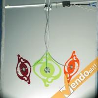 INFORMALE LAMPADA LAMPADARIO DA SOFFITTO LAMPADINE E27 VARI COLORI MADE IN ITALY