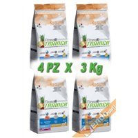 FITNESS3 JUNIOR MEDIUM MAXI SALMONE RISO CANE ADULTO MEDIO GRANDE 3KG X 4 PZ