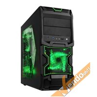 CASE COMPUTER PC GAMING ATX IN METALLO CON MANIGLIA USB 3 VENTOLA LUMINOSA A LED
