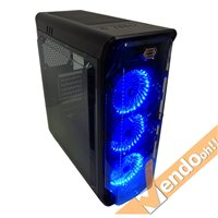 CASE COMPUTER PC GAMING ATX IN METALLO GABBIA LIQUID COOLER INTEGRATA usb 3.0 2.0