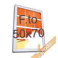 CORNICE MAGNETICA ULTRA PIATTA FORMATO B2 50X70 CM DA PARETE FRONTALE MAGNETICO