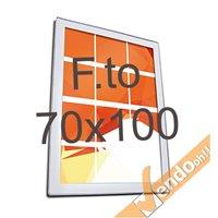 CORNICE MAGNETICA ULTRA PIATTA FORMATO B1 70X100 CM DA PARETE FRONTALE MAGNETICO