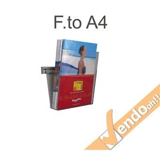 PORTA DEPLIANT A BINARIO DA PARETE 1 TASCA FORMATO A4 GUIDA IN ALLUMINIO PDS701