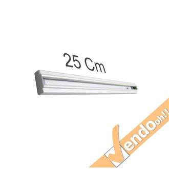 BARRA 25 CM PER ESPOSITORI DA PARETE F.TO A4 A5 1/3 DI A4 BINARIO GUIDA VARIE MISURE