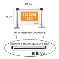 KIT AGGANCI PER BANNER PER COLONNINE DELIMITA AREA PRIVACY SEPARA CODE OF LIMIT