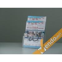 PORTA DEPLIANT DEPLIAN DA BANCO UFFICIO SCRIVANIA FORMATO A4 2 TASCHE PDB200